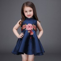 CC0006D Spring European Embroidered Princess Puff Dress