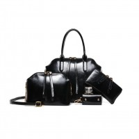 WB0004M  European Retro Oil Wax Shoulder Handbag (4pcs)