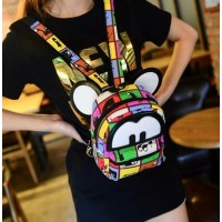 WB0056D Korean Cartoon Casual Canvas Backpack