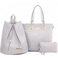 WB0058D Crocodile Pattern Shoulder Messenger Bag (3pcs/Set)