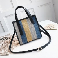 WB0061 Simple Color  Harajuku Wind Tote Shoulder Bag