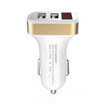 CL0006 Dual-usb Fast-Charge Interface Universal Smartphone Car Charger