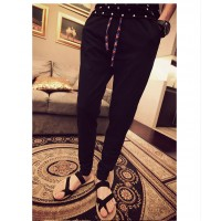 MS0024D Japanese Retro Men's Casual Slim Harem Pants