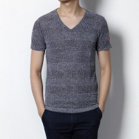 MS0033D Men's Summer Cotton Short-Sleeved Slim T-Shirt