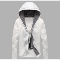 MS0037D Korean Slim Casual Hooded Couple Thin Coat Jacket