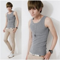 MS0056D Men's Round Neck T-Shirt Bottoming Thread Cotton Vest