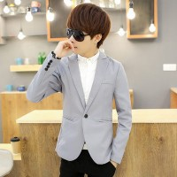 MS0061D Korean Casual Slim Solid Color Suit Jacket