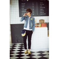 MS0069D Korean Slim Casual Denim Jacket