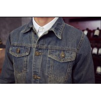MS0070D Korean Slim Retro Casual Denim Jacket