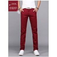 MS0093D Korean Loose Cotton Casual Straight Slim Trousers