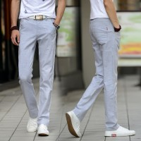 MS0095D Korean Thin Cotton Casual Slim Straight Pants