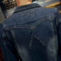 MS0102D New Slim Korean Men Casual Fashion Denim Jacket Coat