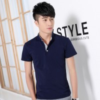 MS0124D Korean Summer Men's Short-Sleeved Polo Shirt