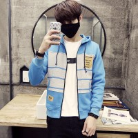 MS0127D Korean New Slim Casual Hooded Sports Jacket