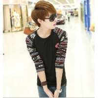 MS0132D New Cotton Round Neck Slim Long-Sleeved T-Shirt