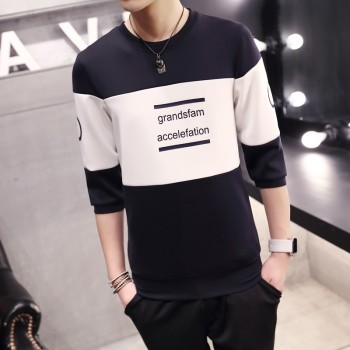 MS0140D Spring New Loose Sleeve Printing T-Shirt