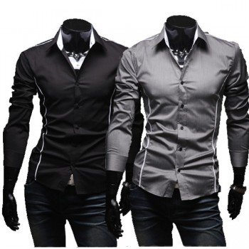 MS0142 Perfect Slim Cutting Men's Casual Long-Sleeved Shirt