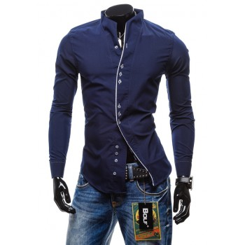 MS0143D Men's Fashion Large Long Sleeve Shirt