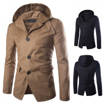 MS0148D Korean Slim Casual Hooded Windbreaker Jacket