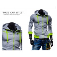 MS0153D Korean Casual Hooded Sweater Jacket