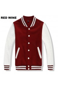 MS0162D Korean Solid Color Couple Baseball Jacket