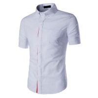 MS0171D New Men's Casual Short-Sleeved Shirt