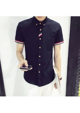 MS0187D Korea Slim Fit Short-sleeved Shirt