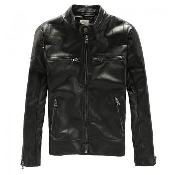MS0220 Europe Slim type PU leather jacket