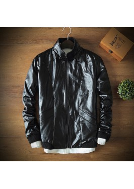 MS0224 Spring and autumn men's PU leather jacket