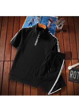MS0235 Men's Slim Casual Short Sleeve T-Shirt Set