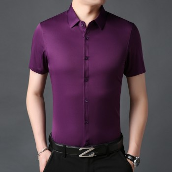 MS0236 Summer Men's Slim Shirt