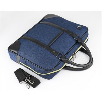 MB0004D Business Briefcase Portable Shoulder Canvas Bag