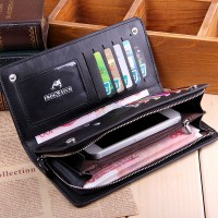 MW0003D New Men's Business Long Wallet