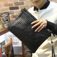 MW0007D Korean Hand-Woven Envelope Clutch