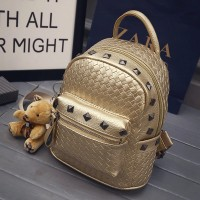 WB0030M New Korean Rivet Mini Travel Backpack
