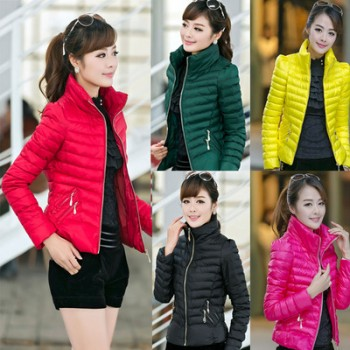 WW0003D Winter New Female Thick Feather Padded Cotton Jacket