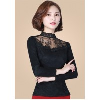WS0001  New Fashion Women Slim Gauze Long-Sleeved Shirt