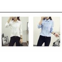 WS0006  Korean Simple Fashion Long-Sleeved Shirt