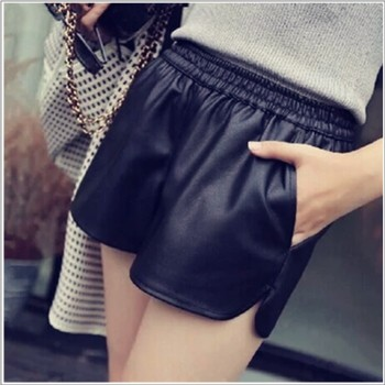 WS0018M New Korean PU Leather Pants