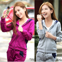 WS0038D New Women Slim Casual Long-Sleeved Track Suit