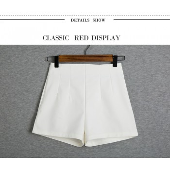 WS0040M New Korean Simple Waist Casual Shorts Suit Pant