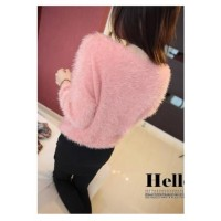 WS0065C Korean Sweater Solid Colour Blouse