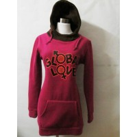 WS0068D Winter New Korean Long-Sleeved Hooded Sweater