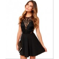 WS0070D Sexy Lace Halter Dress