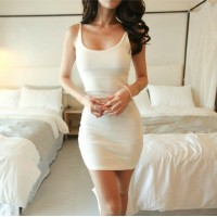 WS0071D Summer New Nightclub Sexy Sleeveless Slim Dress