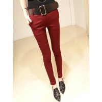 WS0078D New Elastic Casual Pencil Pants