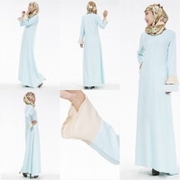 WS0085D The New Speaker Sleeve Muslim Dress