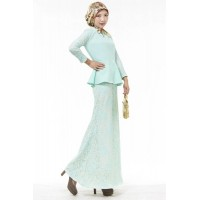 WS0088D Malaysia Muslim Fashion Lace Suit
