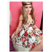 WS0099D Korean Sexy  Floral Sling Skirt