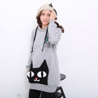 WS0104D Korean Hedging Long-Sleeved Hooded Jacket